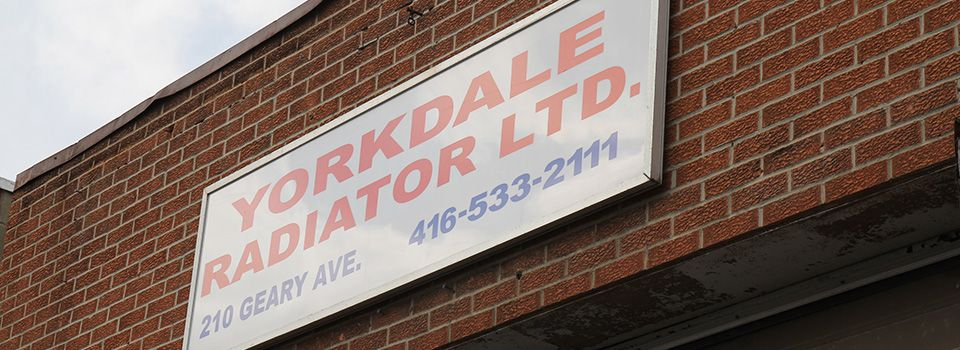 Yorkdale Radiator Ltd. sign