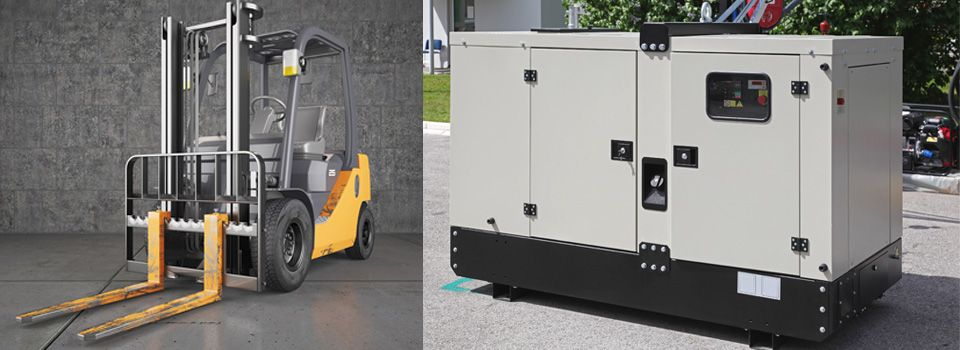 Forklift and diesel generator